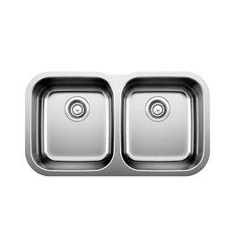 Blanco Blanco 400008 Essential U 2 Double Undermount Kitchen Sink