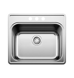 Blanco Blanco 401203 Essential Three Holes 8 Centre Drop In Utility Sink