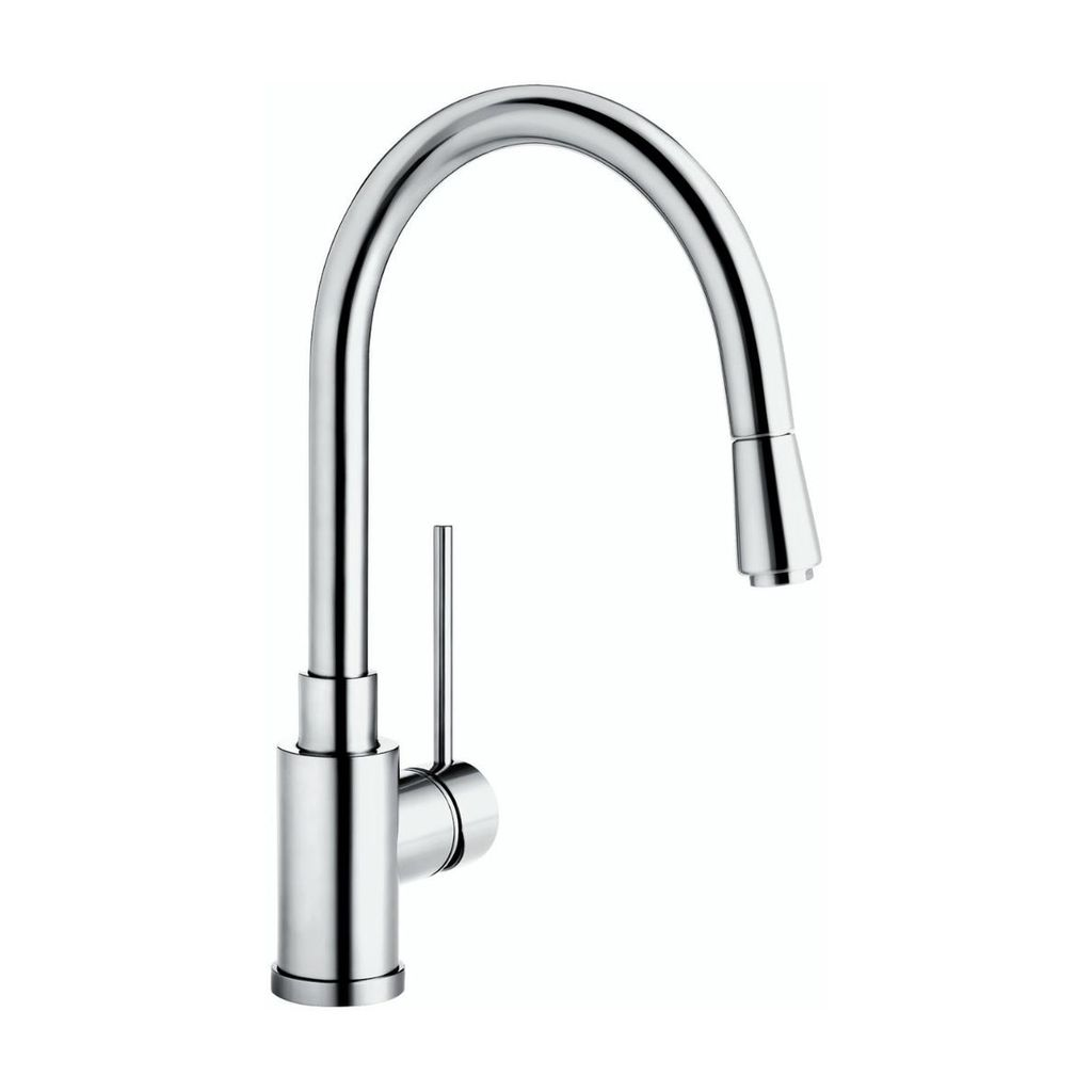 in delta pull ss kitchen handle faucet p down sprayer stainless single faucets dst izak