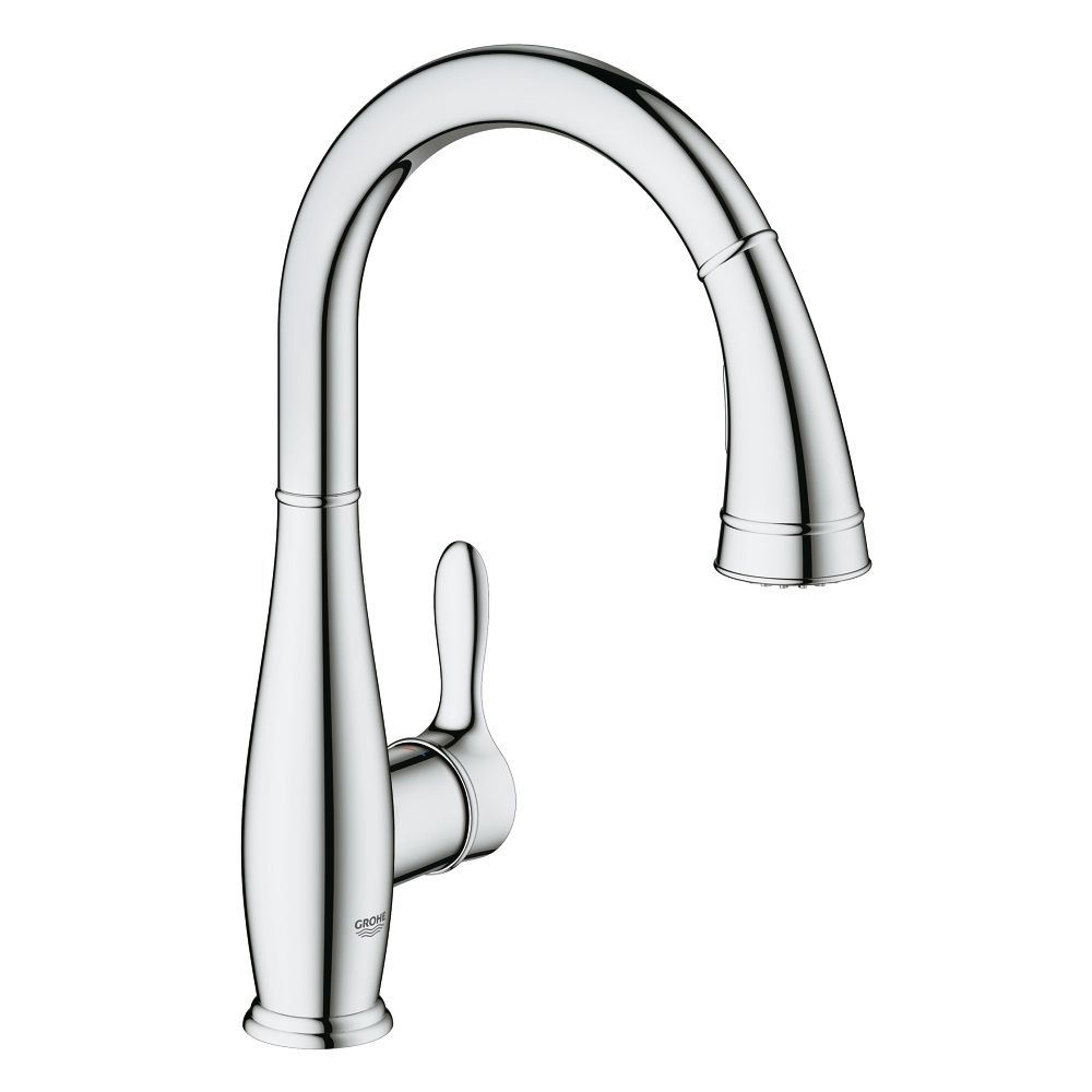 Grohe Grohe 30213001 Parkfield Single Handle Pull Out Kitchen Faucet Chrome  ...