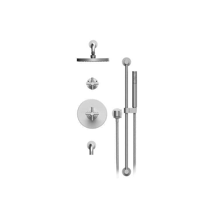 Rubinet T232GNLCHABM Genesis Pressure Balance Tub And Shower With ...