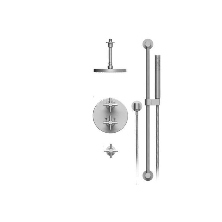 Rubinet 42gnlchabm Genesis Temperature Control Shower With Two Seperate Volume Controls Chrome Home Comfort Centre