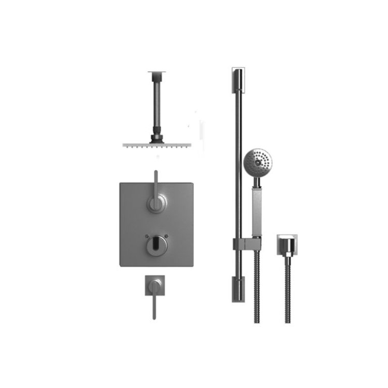 Rubinet 42rtqchabm R10 Temperature Control Shower With Two Separate Volume Controls Chrome Home Comfort Centre