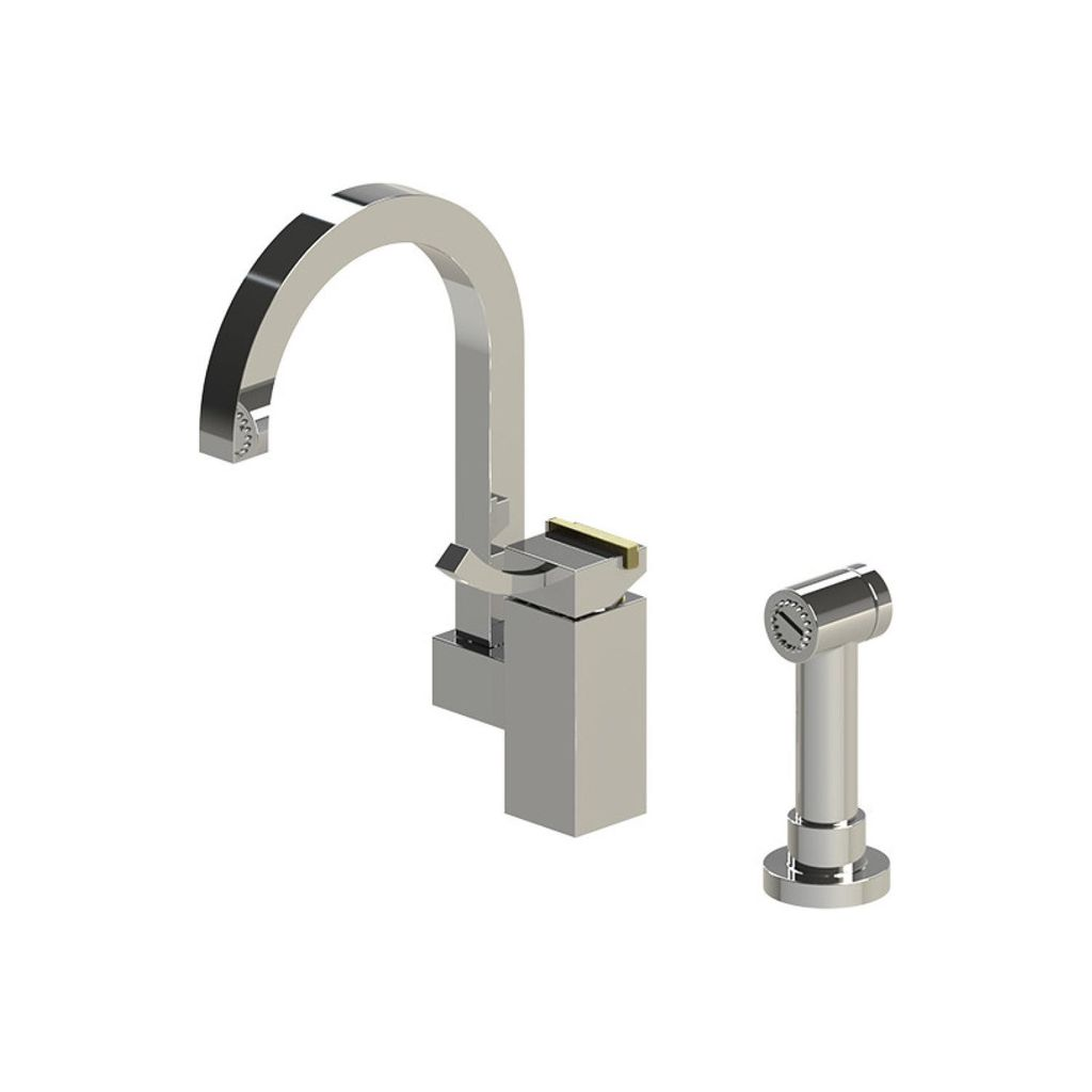 Rubinet 8NMQ1CHABM Matthew Quinn Single Control Kitchen Bar Faucet ...