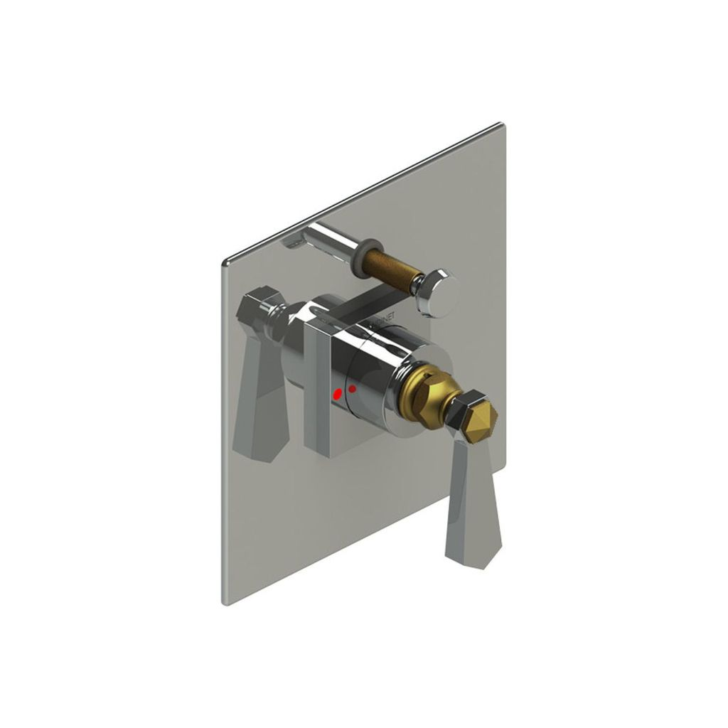 Rubinet Rubinet T2YHXLCHABM Hexis Pressure Balance Shower Valve With Stops Two  Way Diverter Trim Only Chrome ...
