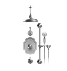 Rubinet Rubinet 25RVCCHCH Raven Temperature Control Tub And Shower With Three Way Diverter And Shut Off Chrome