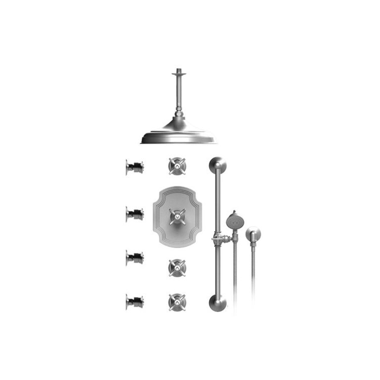 Rubinet T48rvcchch Raven Temperature Control Shower With Three Separate Volume Controls Chrome Home Comfort Centre