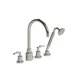 Rubinet Rubinet T5HLALCHCH LaSalle Four Piece Roman Tub Filler With Hand Held Shower Trim Only Chrome