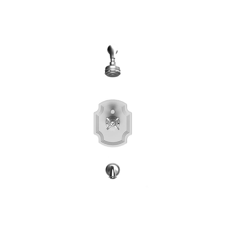 Rubinet 221rjlchch Raven Pressure Balance Tub And Shower With Fixed