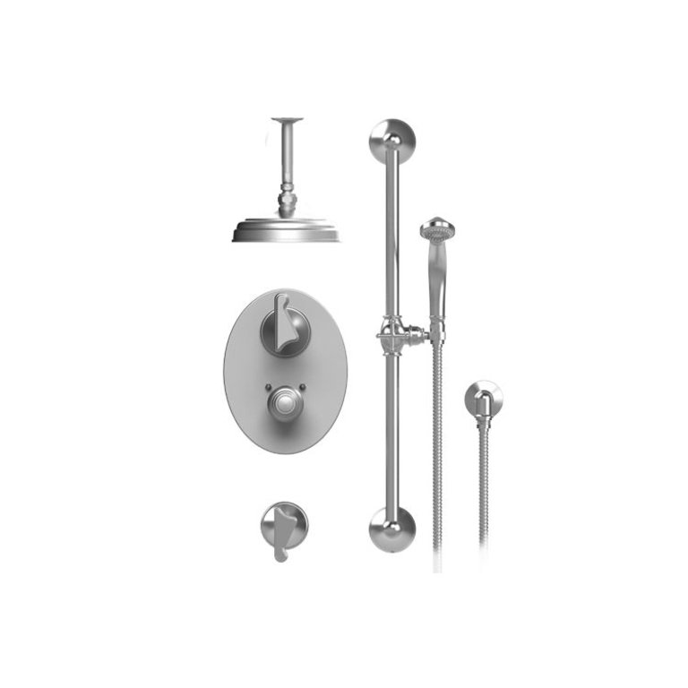 Rubinet 42jslchch Jasmin Temperature Control Shower With Two Separate Volume Controls Chrome Home Comfort Centre