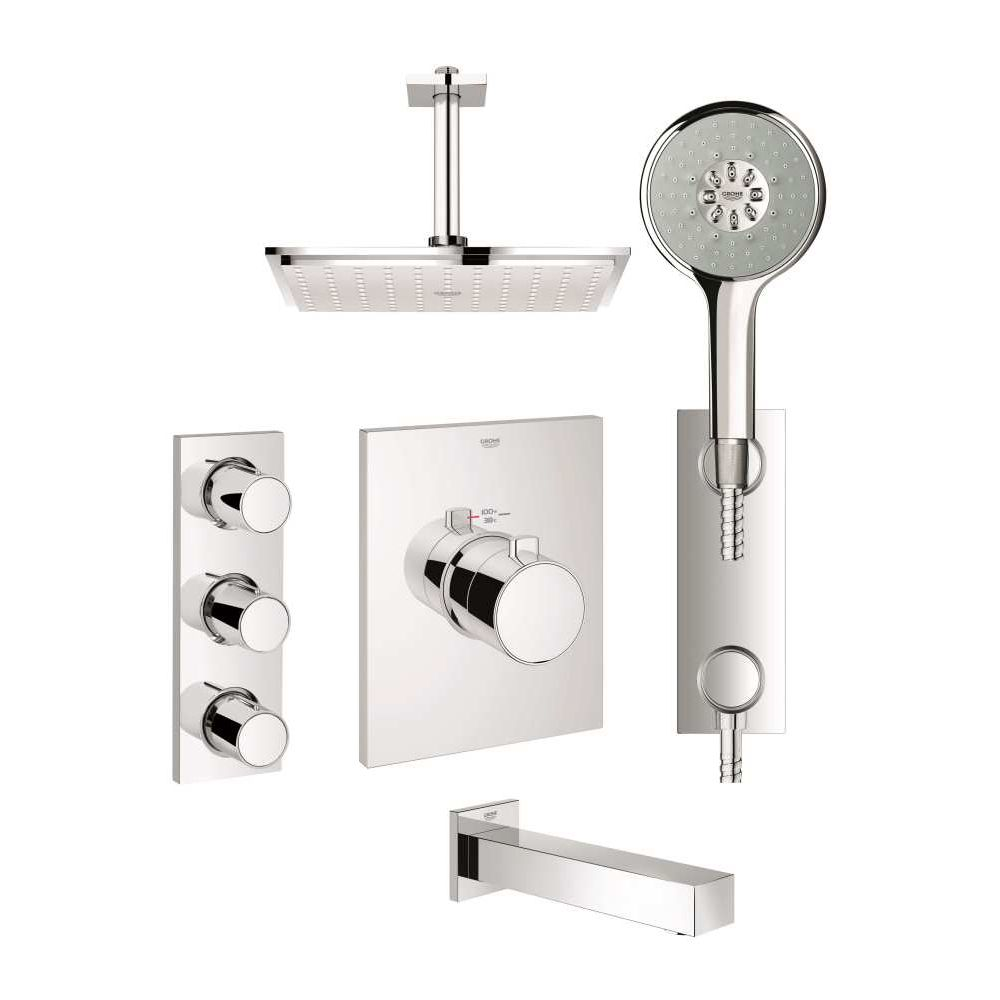 Grohe 123155 Grohtherm F Custom Shower Kit Chrome - Home Comfort Centre