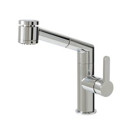 Aquabrass Aquabrass 20243 New Condo Pull Out Dual Stream Mode Kitchen Faucet Brushed Nickel