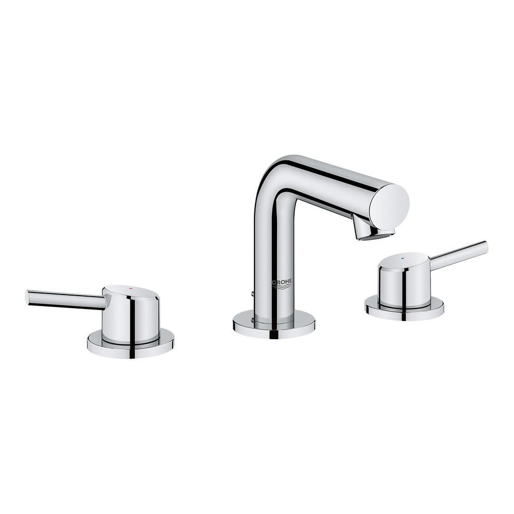 Grohe 20572001 Concetto 8 Widespread Two Handle Bathroom Faucet ...