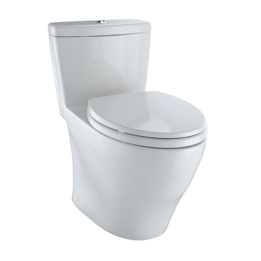 TOTO MS654114MF Aquia One Piece Toilet Colonial White - Home Comfort ...