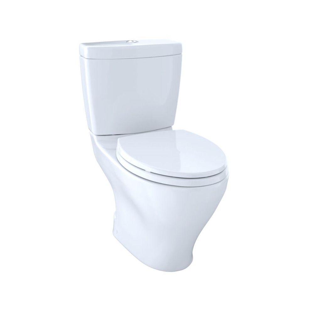 TOTO CST412MF Aquia Dual Flush Two Piece Elongated Toilet Cotton ...