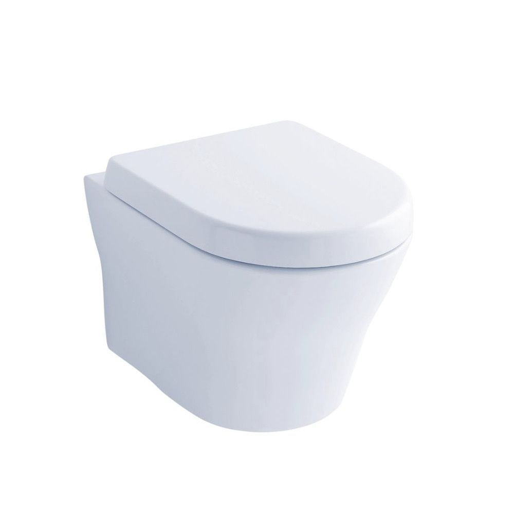 TOTO CT437FG MH Wall Hung Dual Flush Toilet Cotton - Home Comfort Centre