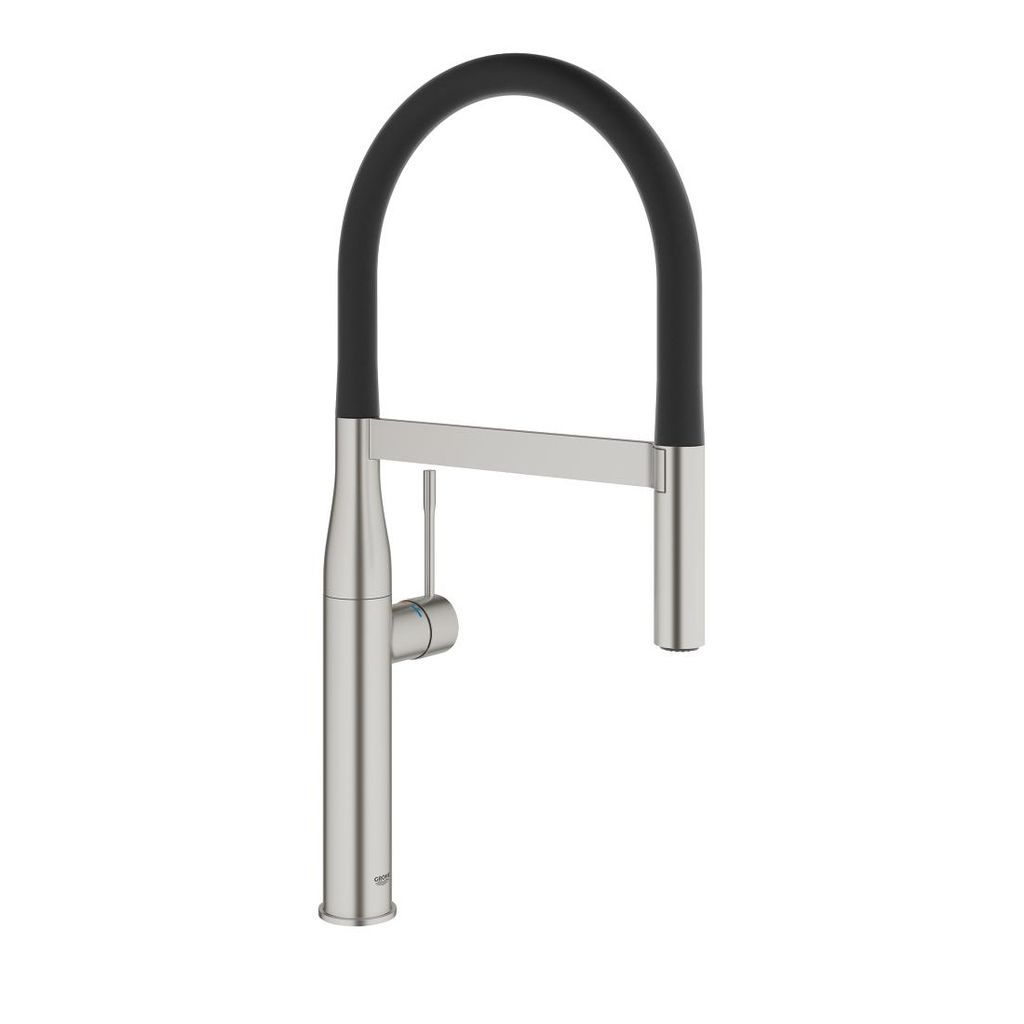 Grohe grohe 30295dc0 essence professional single handle kitchen faucet super steel