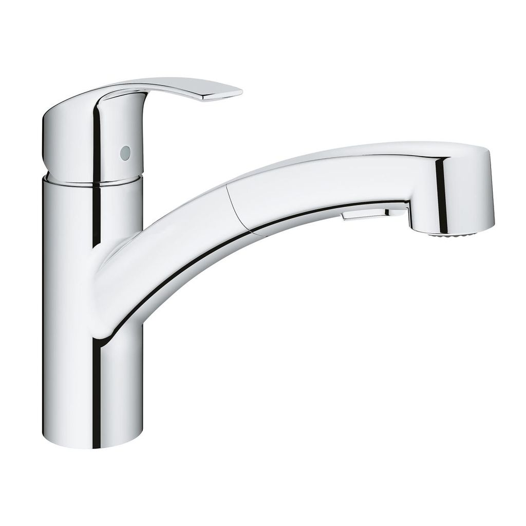 Grohe Grohe 30306000 Eurosmart Single Handle Pull Out Kitchen Faucet Chrome  ...