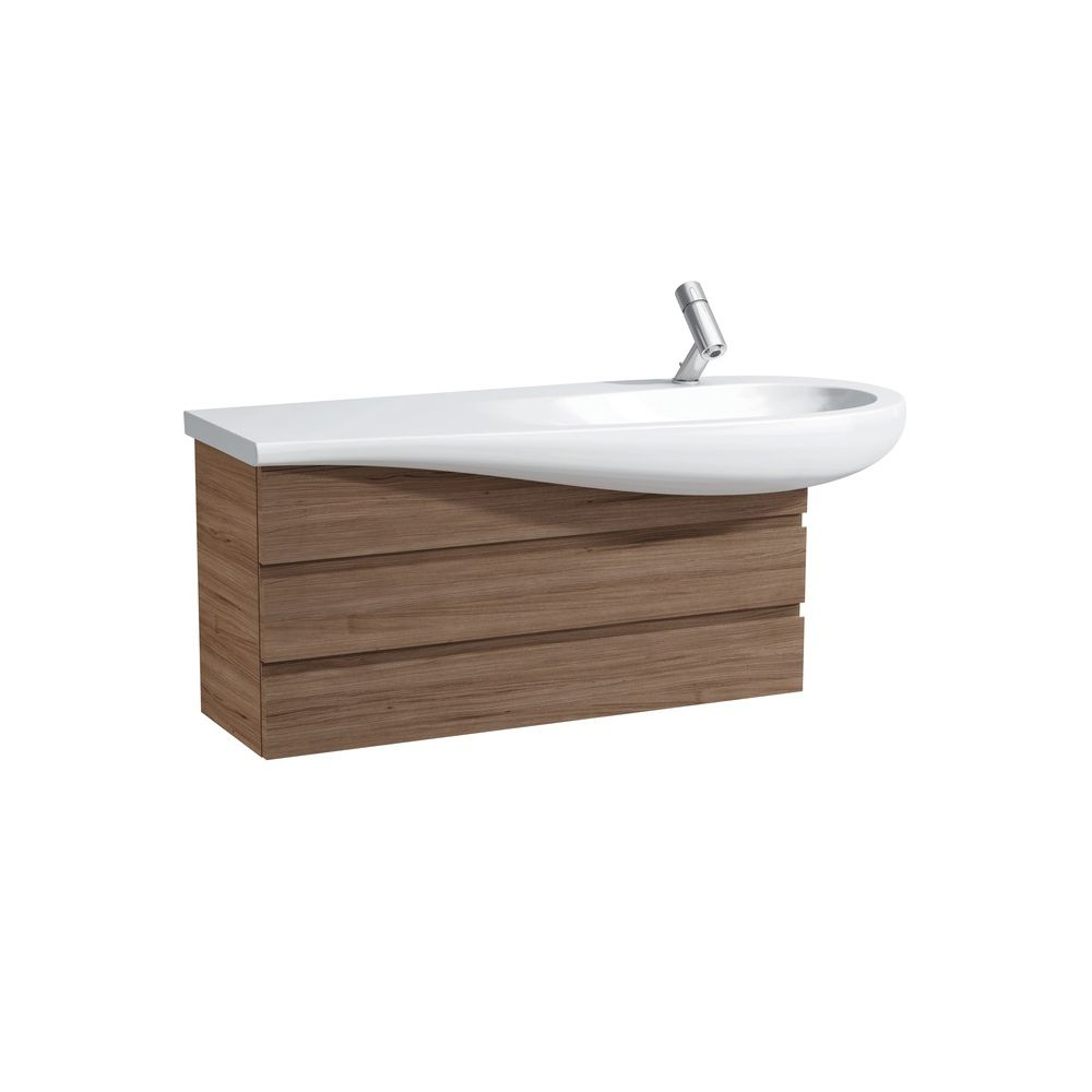 Laufen 424500 Alessi One Two Drawers Vanity Unit Noce Canaletto ...