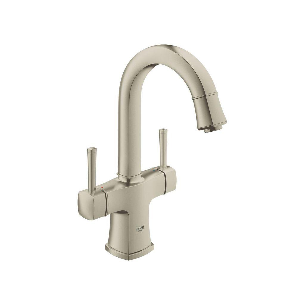 Grohe 21108ENA Grandera Single Hole L Size Bathroom Faucet Brushed ...