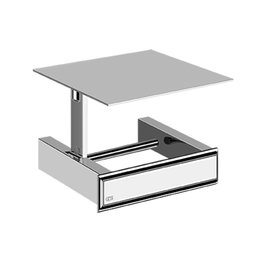Gessi Gessi 48449 Wall Mounted Tissue Holder With Cover Chrome