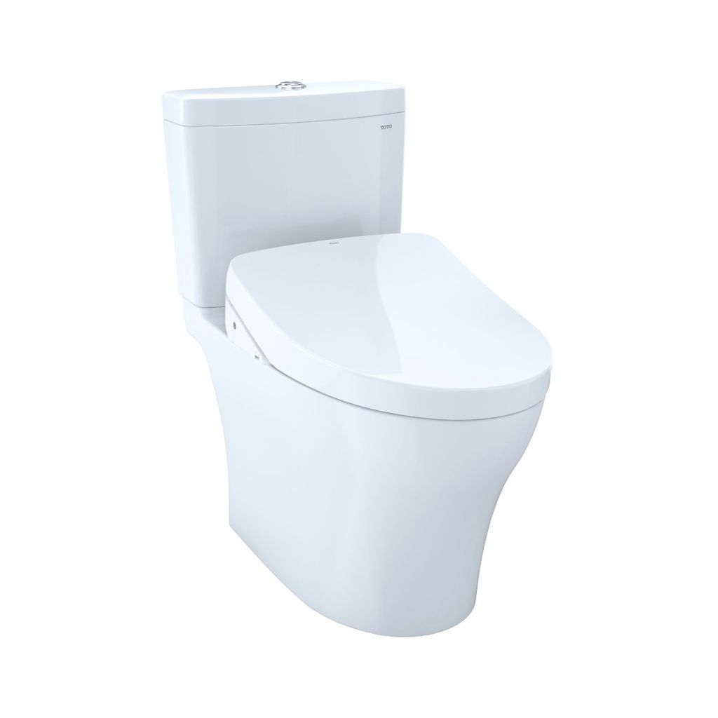 TOTO MW4463046CUMG Aquia IV 1G WASHLET S500e Two Piece Toilet Cotton ...