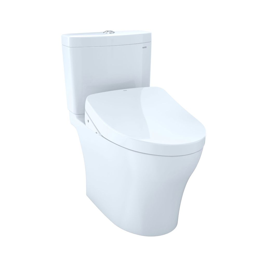 TOTO MW4463056CUMG Aquia IV 1G WASHLET S550e Two Piece Toilet Cotton ...