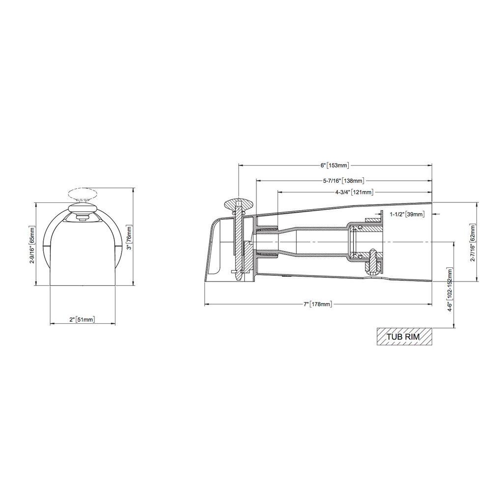Toto Ts100ev Diverter Tub Spout Chrome Home Comfort Centre Schematic