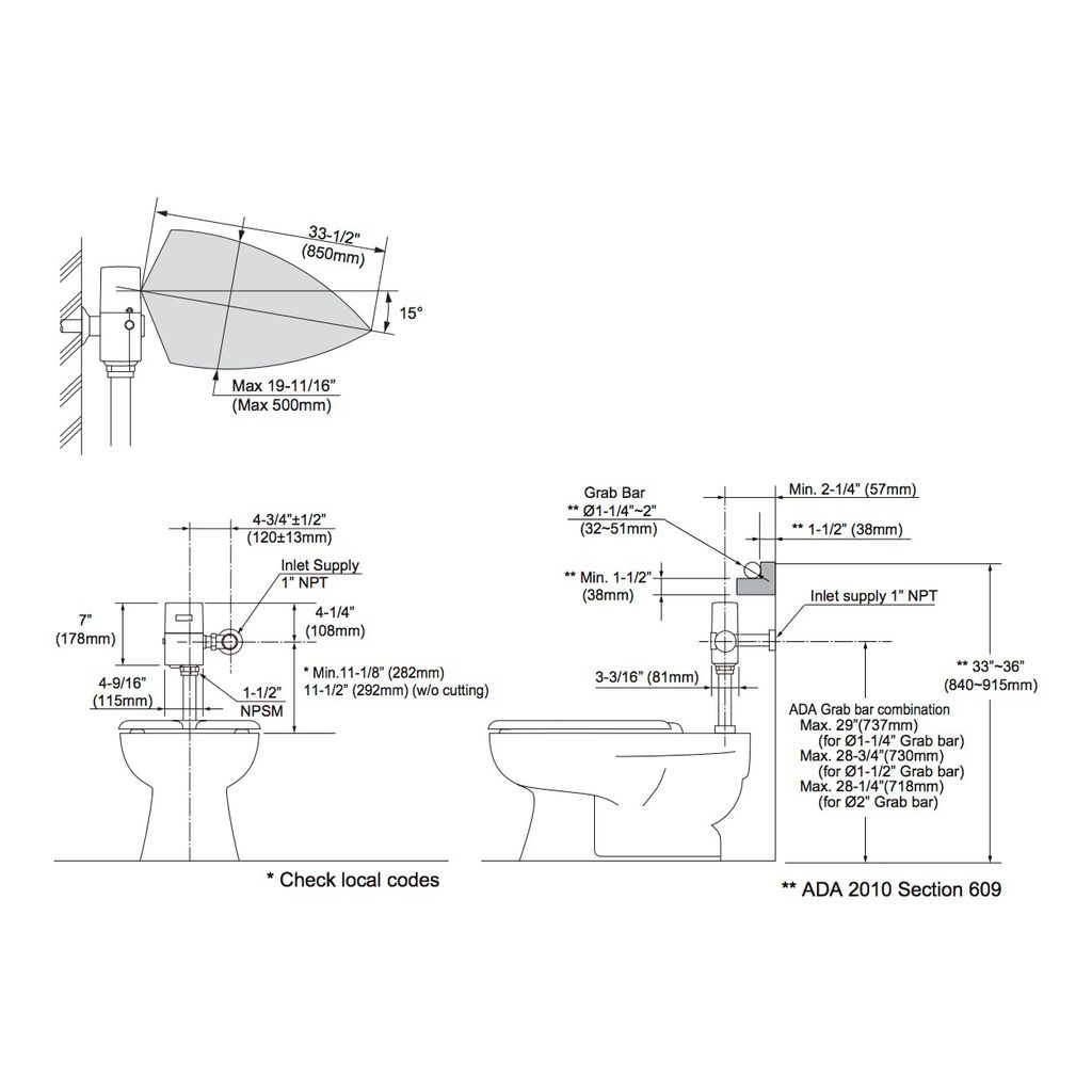 TOTO TET1GA EcoPower Toilet Flush Valve Only Chrome - Home Comfort ...
