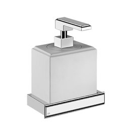 Gessi Gessi 48413 Fascino Wall Mounted Liquid Soap Dispenser In Neolyte Chrome