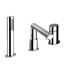 Gessi Gessi 26837 Ovale Three Hole Roman Tub Set Chrome