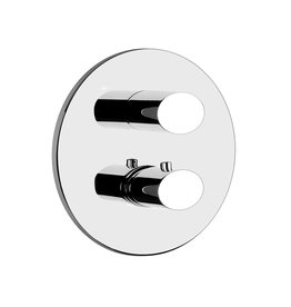 Gessi Gessi 23234 Ovale Two Way Diverter Thermostatic And Volume Control Trim Chrome
