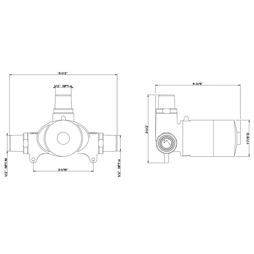 Gessi 26912 Ovale Wall Mounted Washbasin Mixer Control
