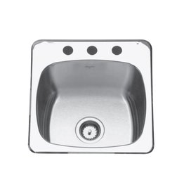 Kindred Kindred QSL2020/10 20 x 20 Single Bowl Utility Sink 3 Holes