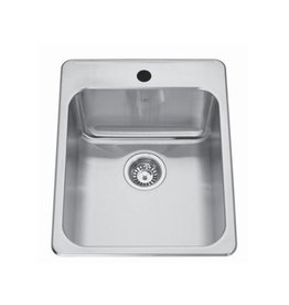 Kindred Kindred QSLA2217/8 22 x 17 Single Bowl Drop In Sink 3 Holes