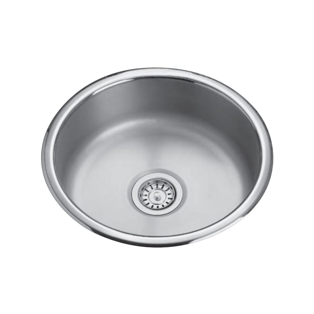 Kindred QSR18/8 18 Single Bowl Round Prep Sink - Home