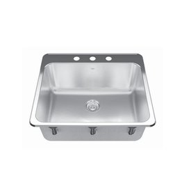 Kindred Kindred QSLA2225/10  22 x 25 Single Bowl Laundry Sink 1 Hole