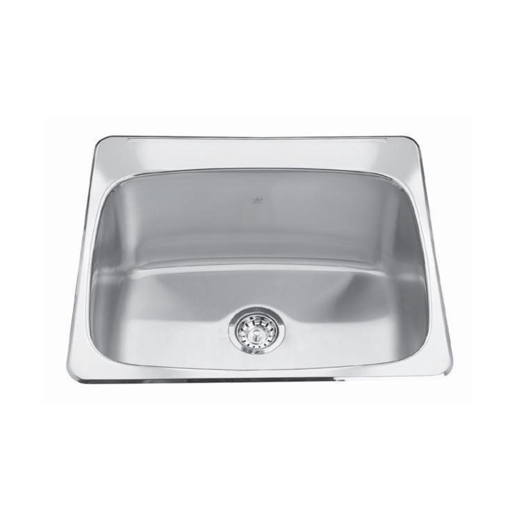 Kindred Kindred QSL2225/12 22 x 25 Single Bowl Laundry Sink 1 Hole