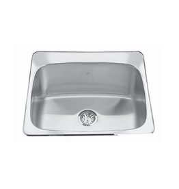 Kindred Kindred QSL2225/12 22 x 25 Single Bowl Laundry Sink 3 Holes
