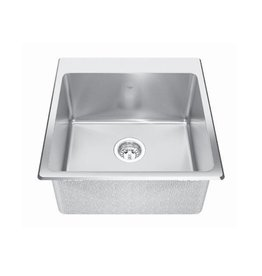 Kindred Kindred QSLF2020/10 20 x 20 Single Bowl Dual Mount Sink 1 Hole