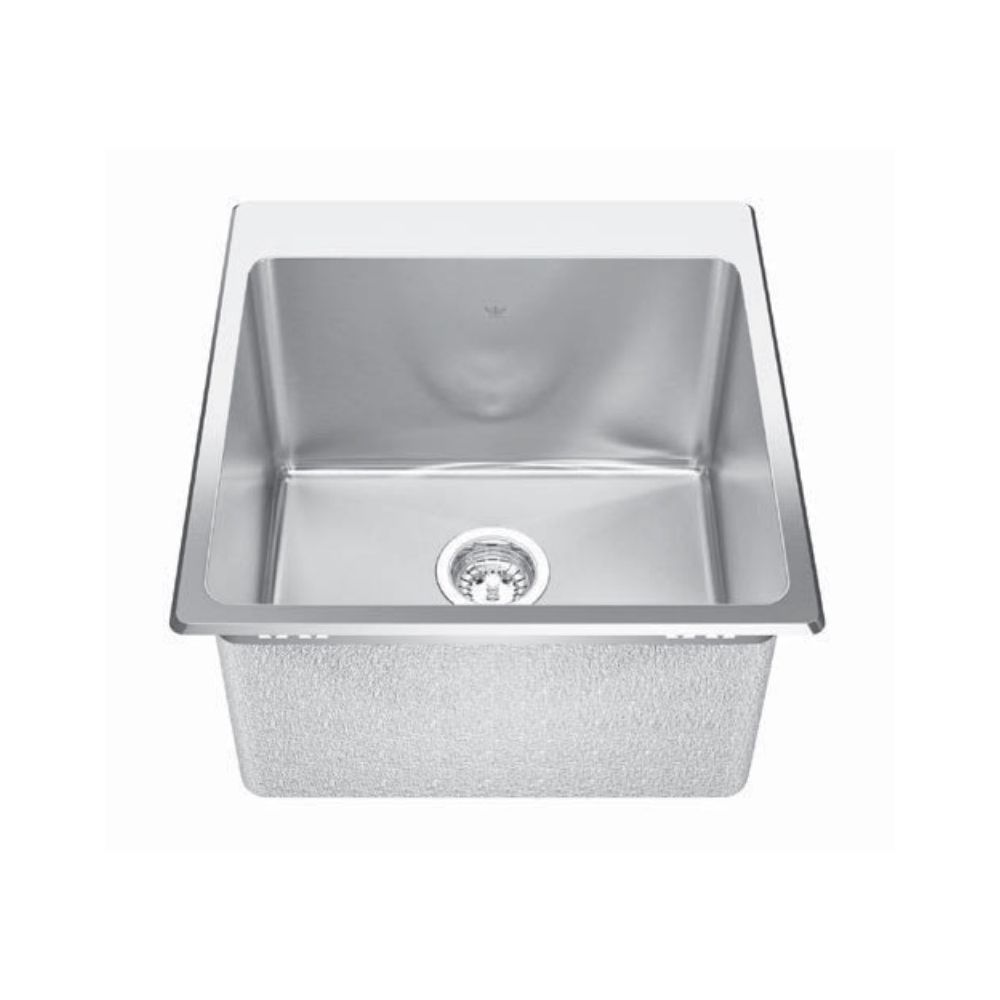 Kindred Kindred QSLF2020/12 20 x 20 Single Bowl Dual Mount Sink 1 Hole