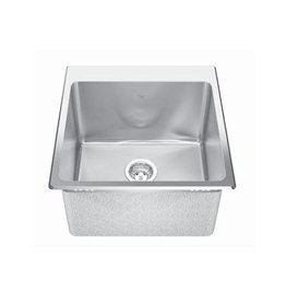 Kindred Kindred QSLF2020/12 20 x 20 Single Bowl Dual Mount Sink 3 Holes