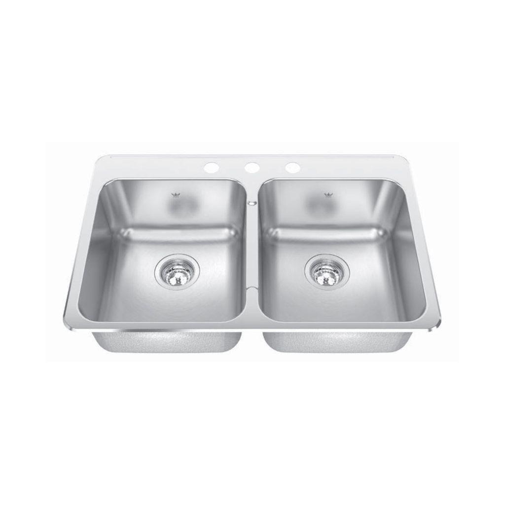 Kindred cdla20318s 31 x 20 double bowl kitchen sink 1 hole home kindred kindred cdla20318s 31 x 20 double bowl kitchen sink 1 hole workwithnaturefo