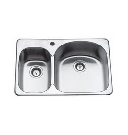 Kindred Kindred CDC2031R/8S 31 x 20 Double Bowl Kitchen Sink 2 Holes