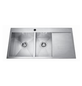 Kindred Kindred QCLF2039DBR/8 39 x 20 Dual Mount Double Bowl Sink 1 Hole