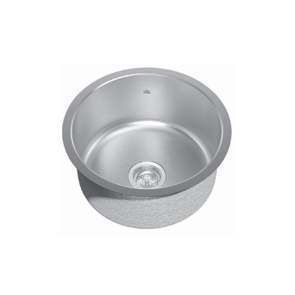 Kindred Kindred KSR1UA/9 18 Single Bowl Round Undermount Sink ...