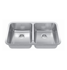 Kindred Kindred QDUA1933/8 33 x 19 Double Bowl Undermount Sink