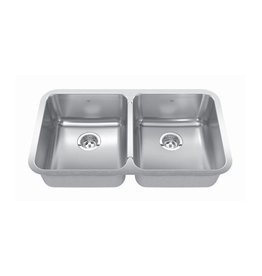 Kindred Kindred QDUA1831/8 31 x 18 Double Bowl Undermount Sink