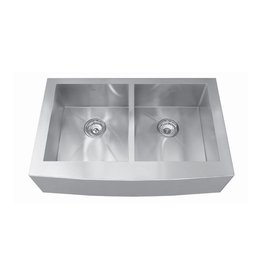 Kindred Kindred QDFS31B 33 x 20 Apron Front Double Bowl Sink