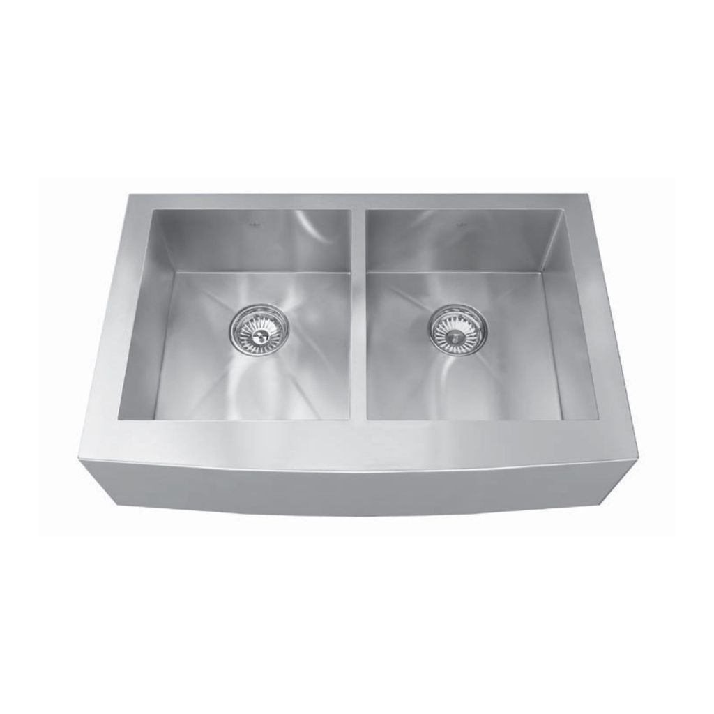 Kindred Kindred QDFS31B 33 X 20 Apron Front Double Bowl Sink ...